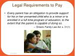 legal requirements to pay