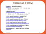 resources family