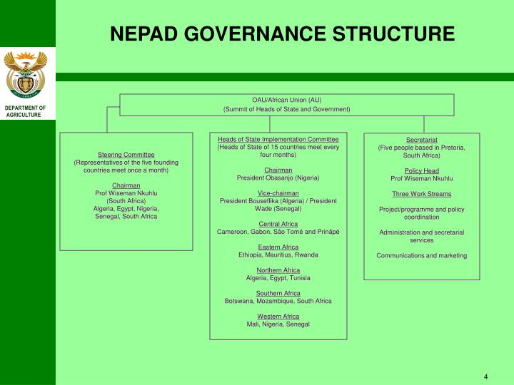 NEPAD GOVERNANCE STRUCTURE