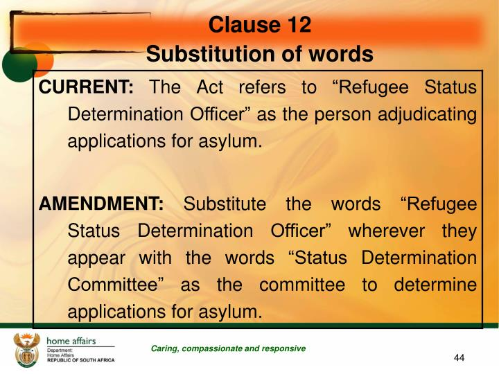 Clause 12