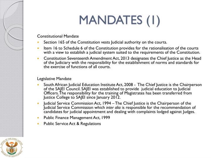 MANDATES (1)