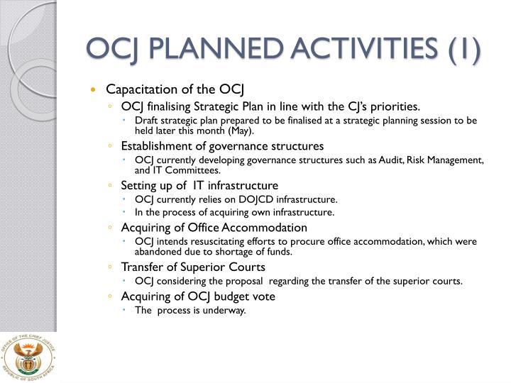 OCJ PLANNED ACTIVITIES (1)