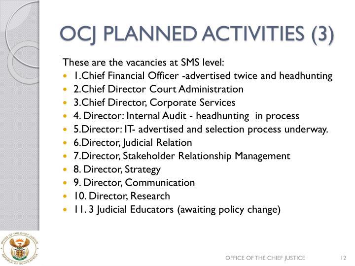 OCJ PLANNED ACTIVITIES (3)