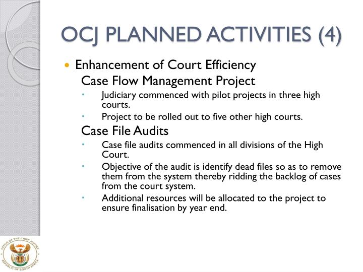 OCJ PLANNED ACTIVITIES (4)
