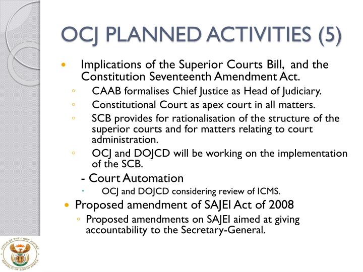 OCJ PLANNED ACTIVITIES (5)