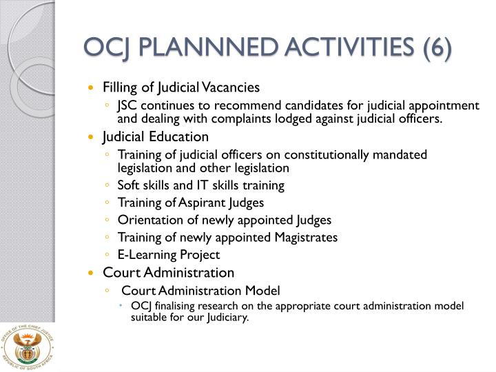 OCJ PLANNNED ACTIVITIES (6)