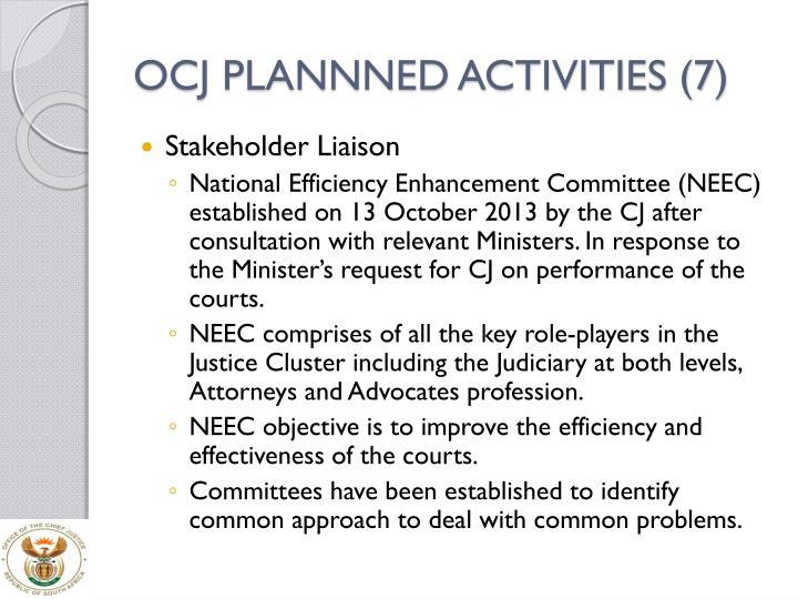OCJ PLANNNED ACTIVITIES (7)