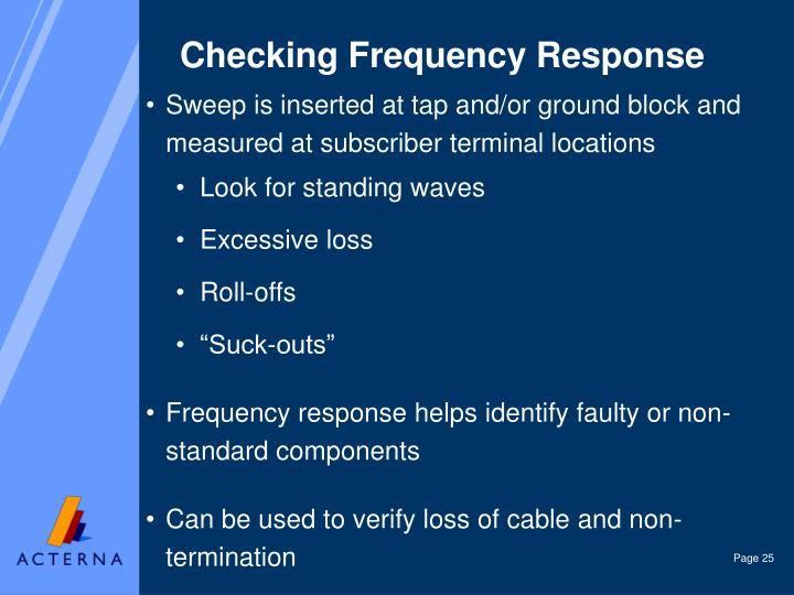 Checking Frequency Response