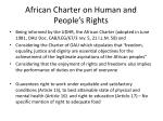 african charter on human and people s rights