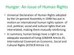 hunger an issue of human rights