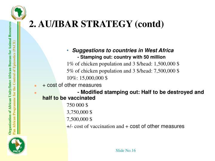 2. AU/IBAR STRATEGY (contd)