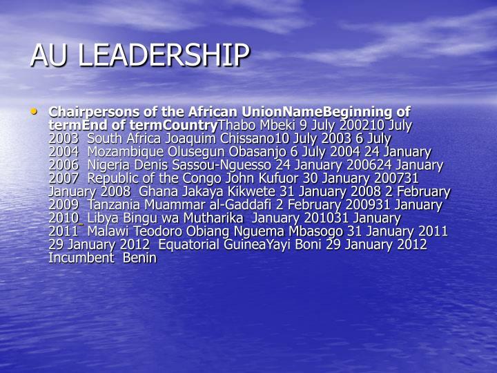 AU LEADERSHIP