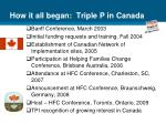 how it all began triple p in canada