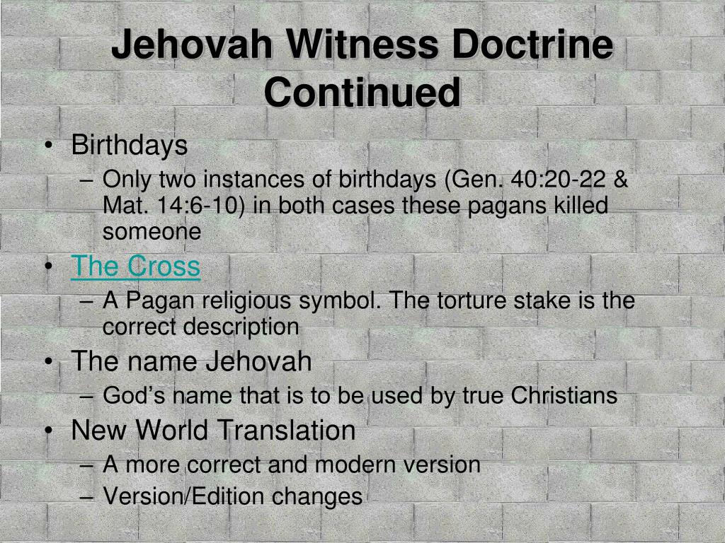 PPT - The Watchtower AKA Jehovah's Witnesses PowerPoint