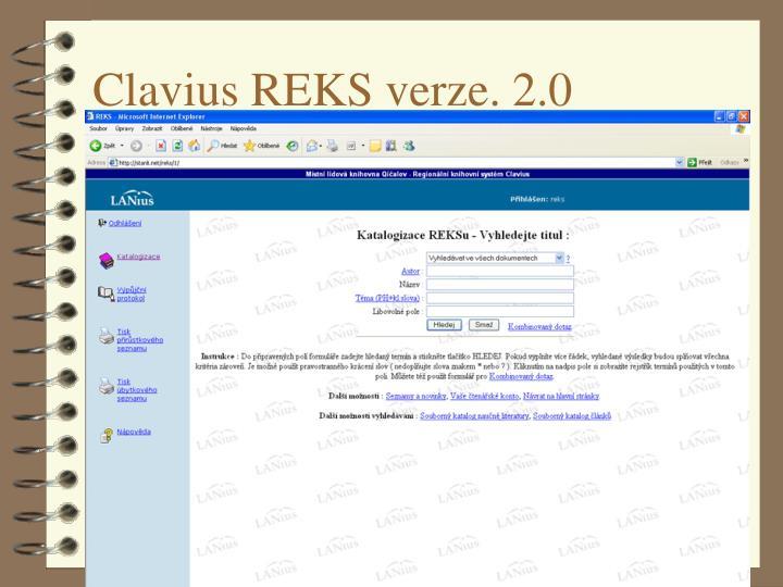 Clavius REKS verze. 2.0
