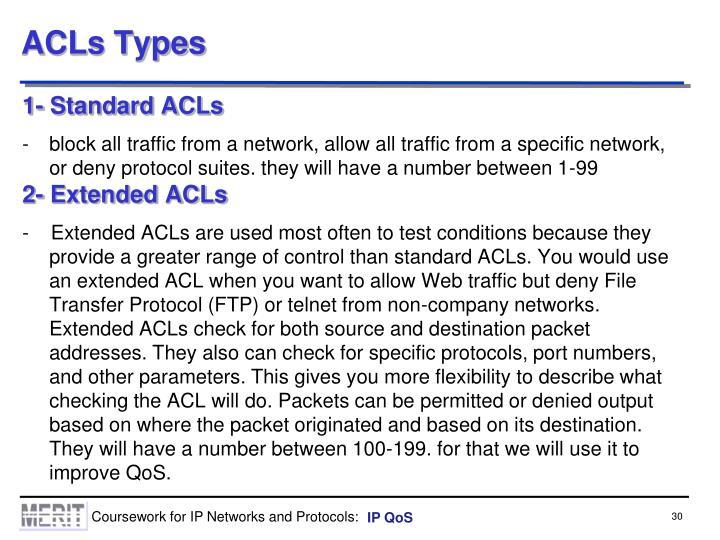 ACLs Types
