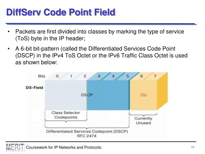 DiffServ Code Point Field