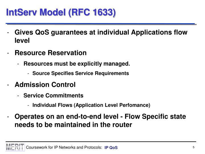 IntServ Model (RFC 1633)