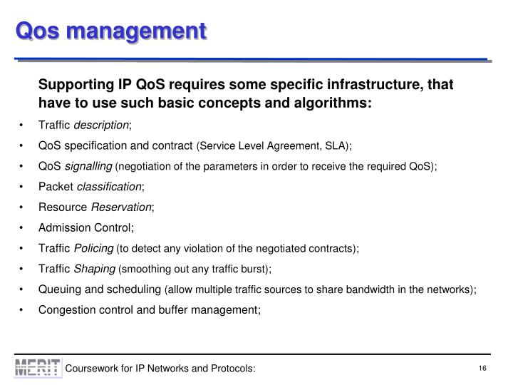 Qos management