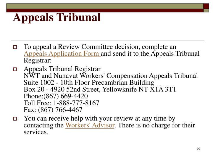 Appeals Tribunal