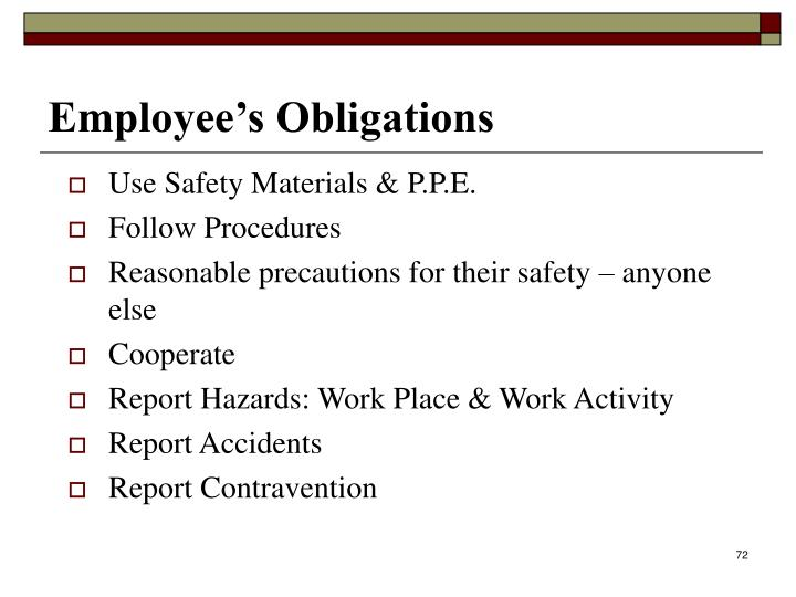 Use Safety Materials & P.P.E.
