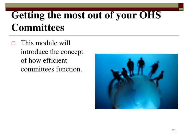 Getting the most out of your OHS Committees