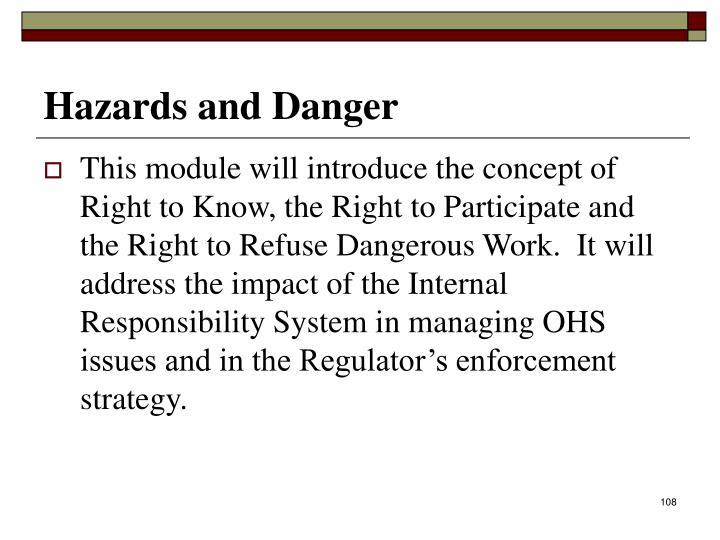 Hazards and Danger