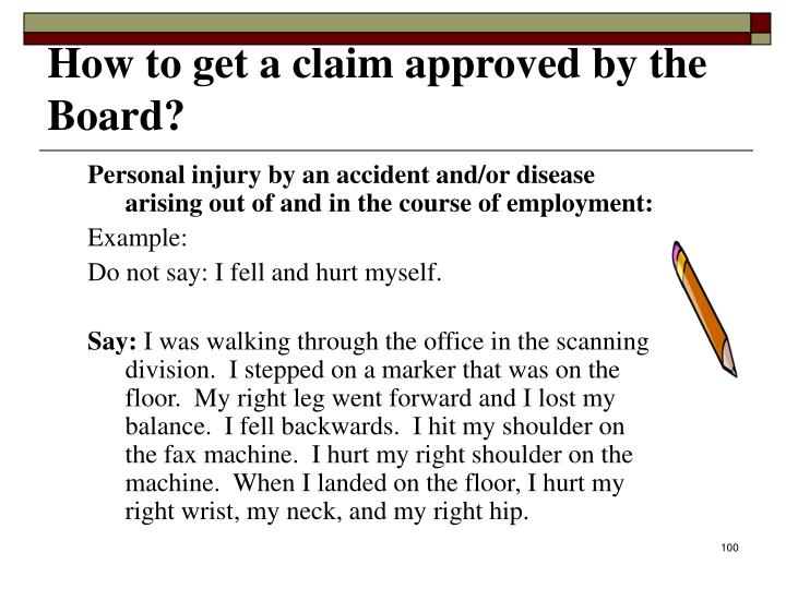 How to get a claim approved by the Board