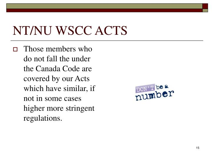 NT/NU WSCC ACTS