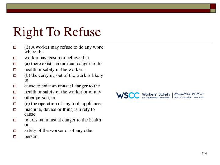 Right To Refuse