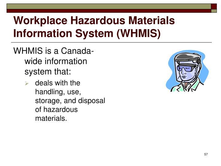 Workplace Hazardous Materials Information System (WHMIS)
