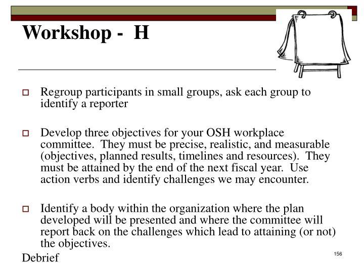 Workshop -  H