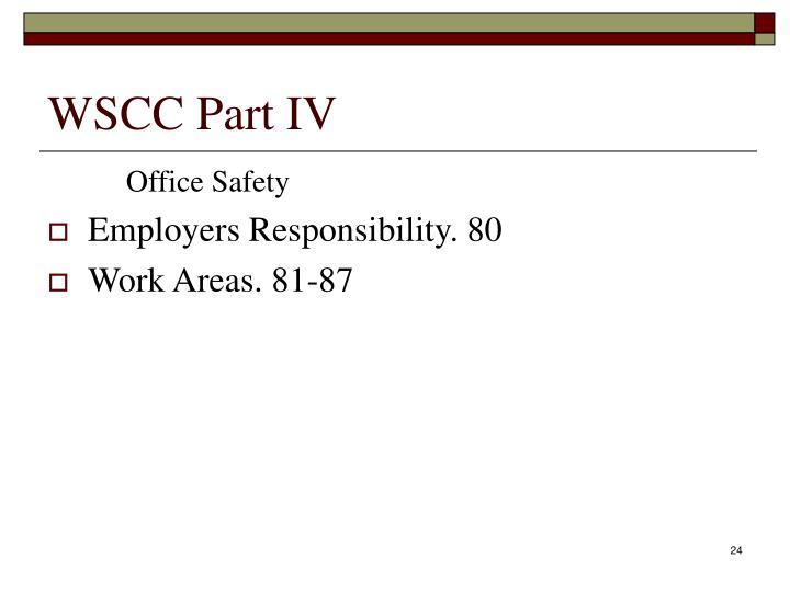 WSCC Part IV