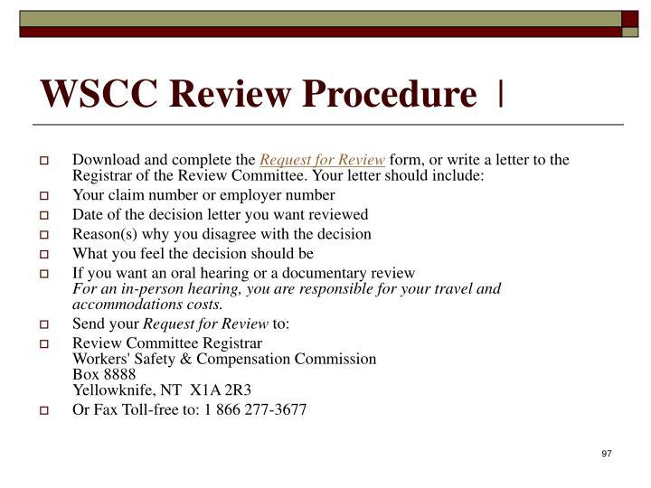 WSCC Review Procedure