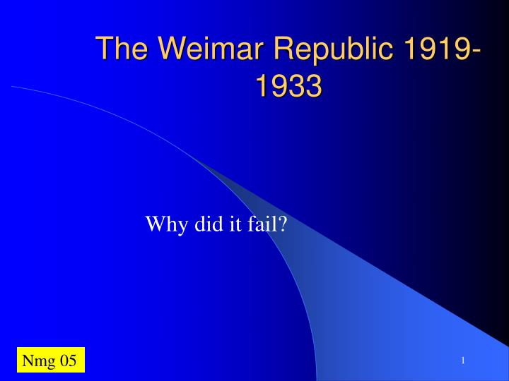 why did the weimar republic survive 1919 23 The republic survived the crises of 1919-23 by using the did the weimar republic recover, 1919 the weimar republic must collapse, it managed to survive.