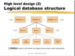 high level design 2 logical database structure