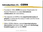 introduction 1 cern