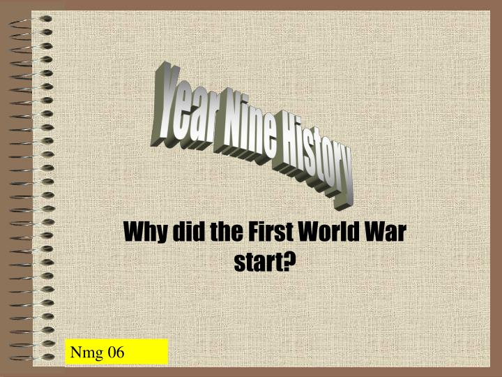 Why did the first world war start