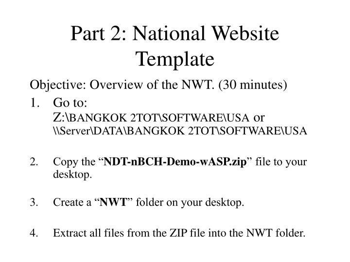 Part 2: National Website Template