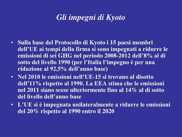 Gli impegni di Kyoto