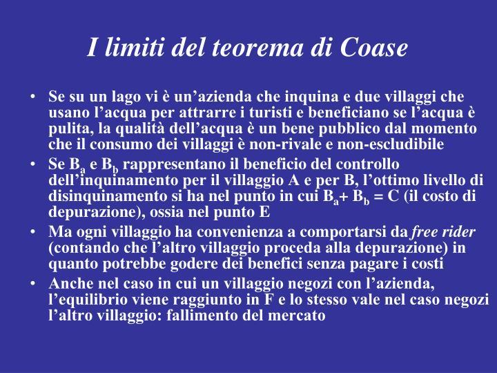 I limiti del teorema di Coase