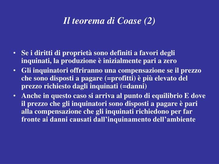 Il teorema di Coase (2)