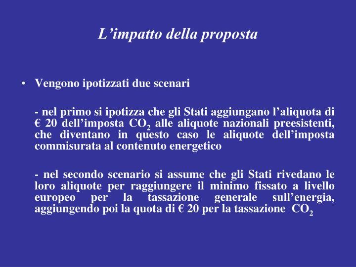 L'impatto della proposta