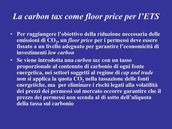 La carbon tax come floor price per l'ETS