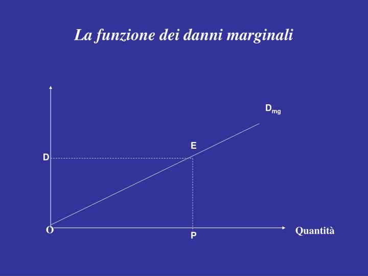 La funzione dei danni marginali