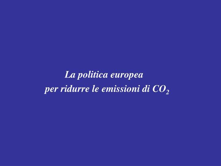 La politica europea