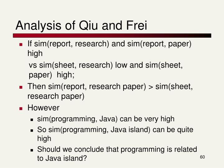 Analysis of Qiu and Frei