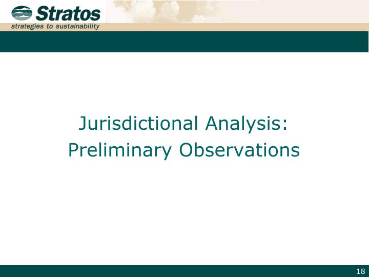 Jurisdictional Analysis: