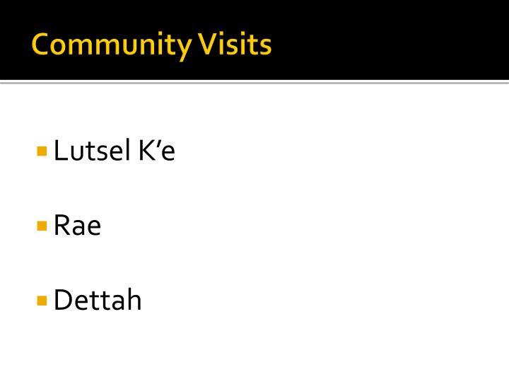 Community Visits