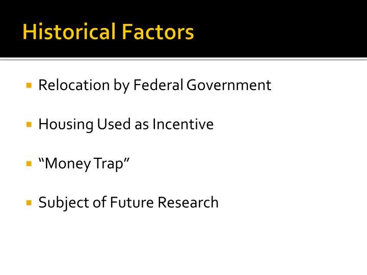 Historical Factors